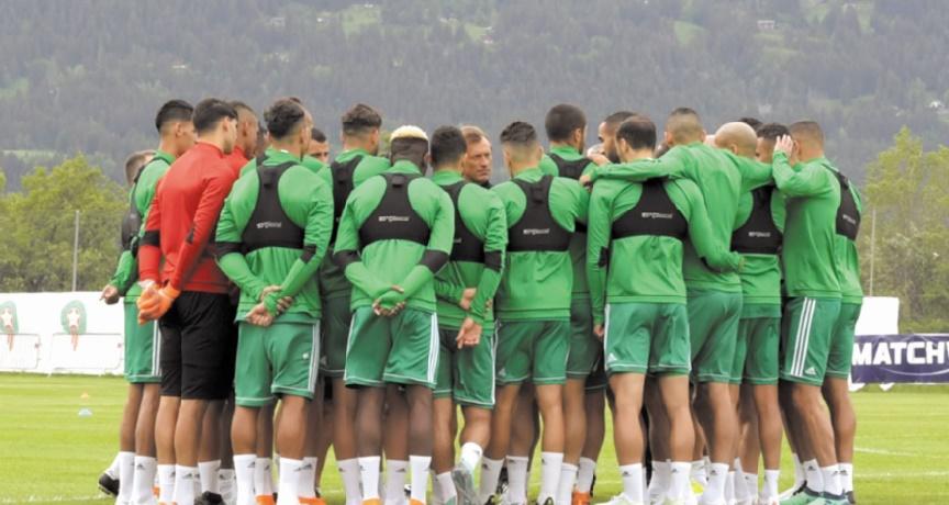 Le Onze national prépare son match contre l'Ukraine