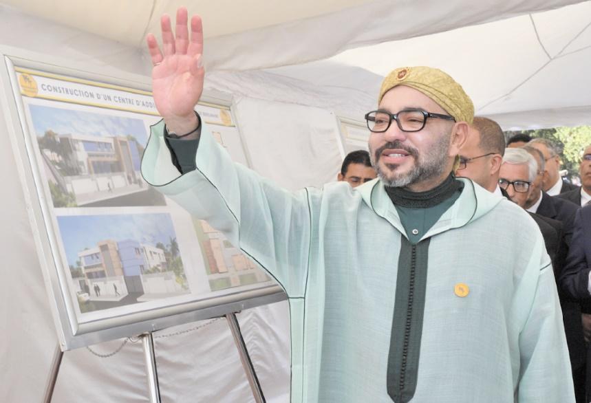 S.M le Roi pose la première pierre d'un Centre d'addictologie à Benslimane