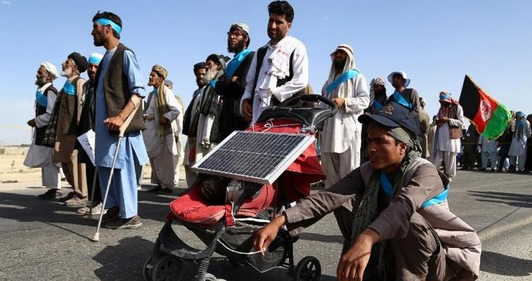 Une marche pour la paix arrive à Kaboul