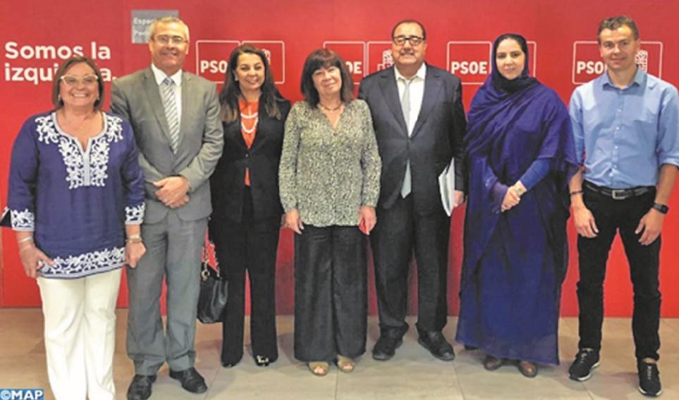 Volonté commune de l'USFP et du PSOE d'institutionnaliser leurs relations bilatérales