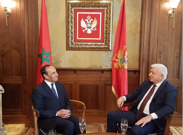 Habib El Malki et Dusco Markovic, chef du gouvernement monténégrin.