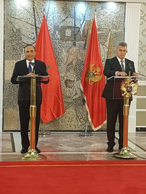 Le président de la Chambre des représentants et son homologue  du Monténégro, Ivan Brajovic