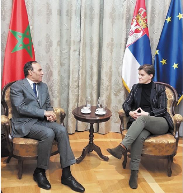 Habib El Malki et Ana Brnabic.