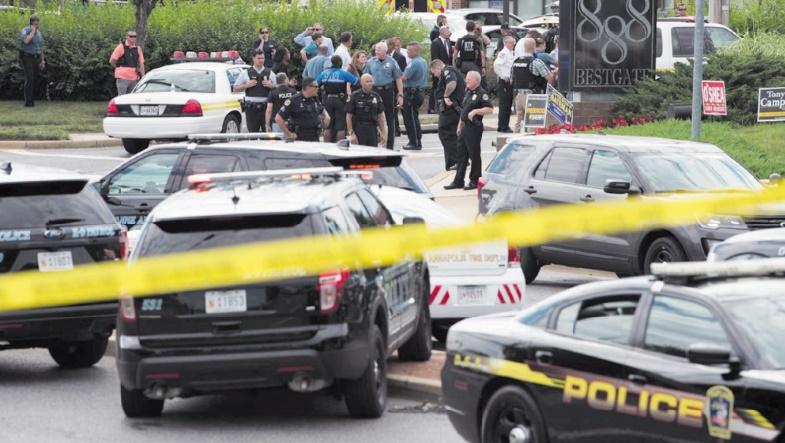 Cinq morts dans une fusillade contre un journal aux Etats-Unis