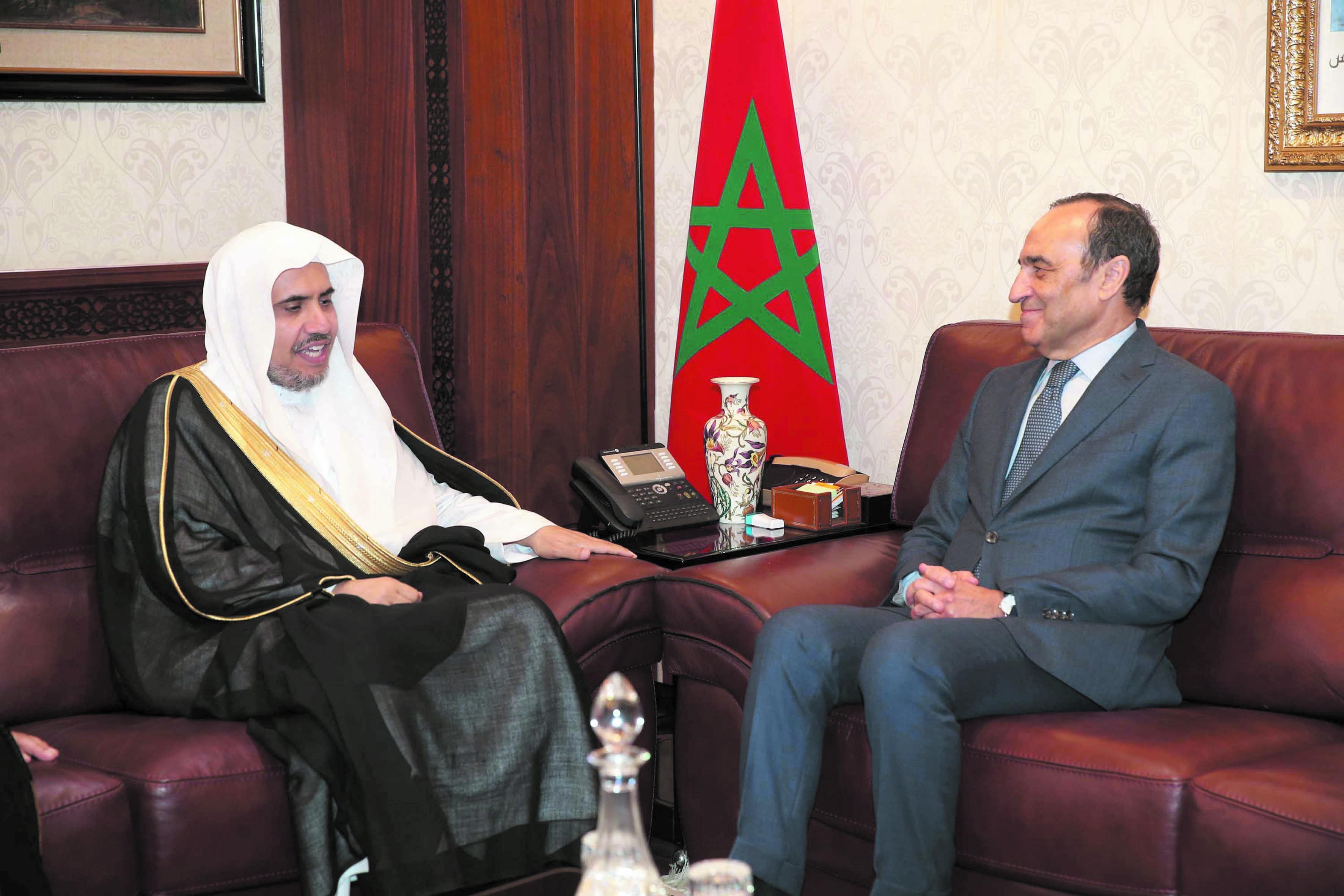 Habib El Malki reçoit le secrétaire  général de la Ligue islamique mondiale