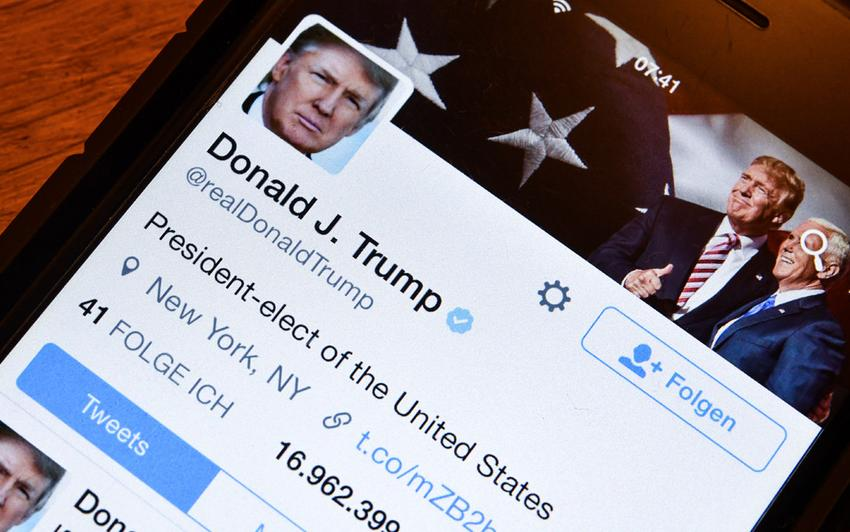 Donald Trump, dirigeant le plus suivi sur Twitter