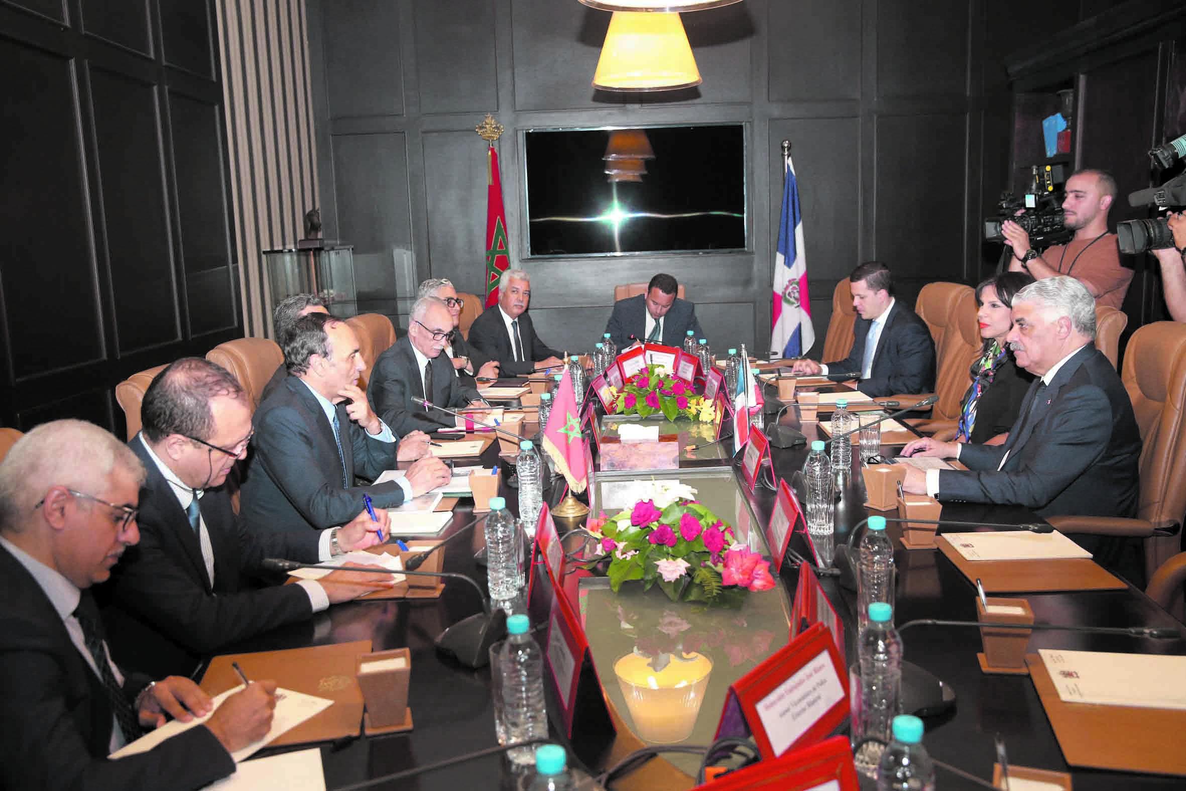 Miguel Vargas Maldonado à l'issue de son entretien avec Habib El Malki La visite de S.M le Roi Mohammed VI à la  République Dominicaine a donné une nouvelle impulsion aux relations maroco-dominicaines