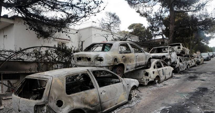 Le bilan des incendies en Grèce s'alourdit