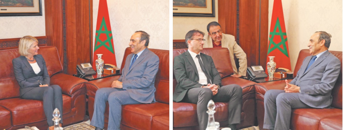 Habib El Malki recevant Désirée Bonis…… et Darko Zelenika.