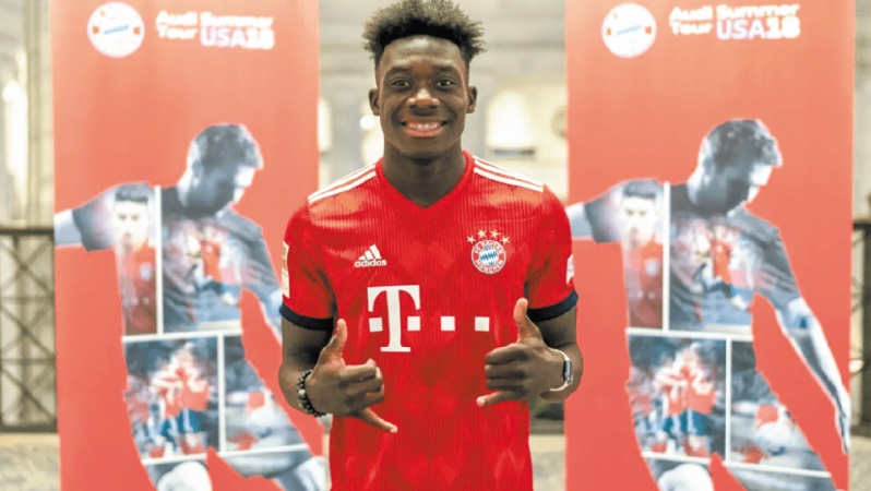 Le jeune prodige Alphonso Davies future star du Bayern