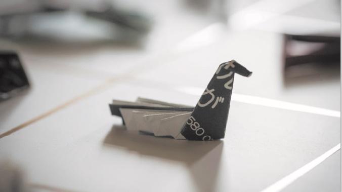 Pourboire à la japonaise : L'origami laissé sur la table