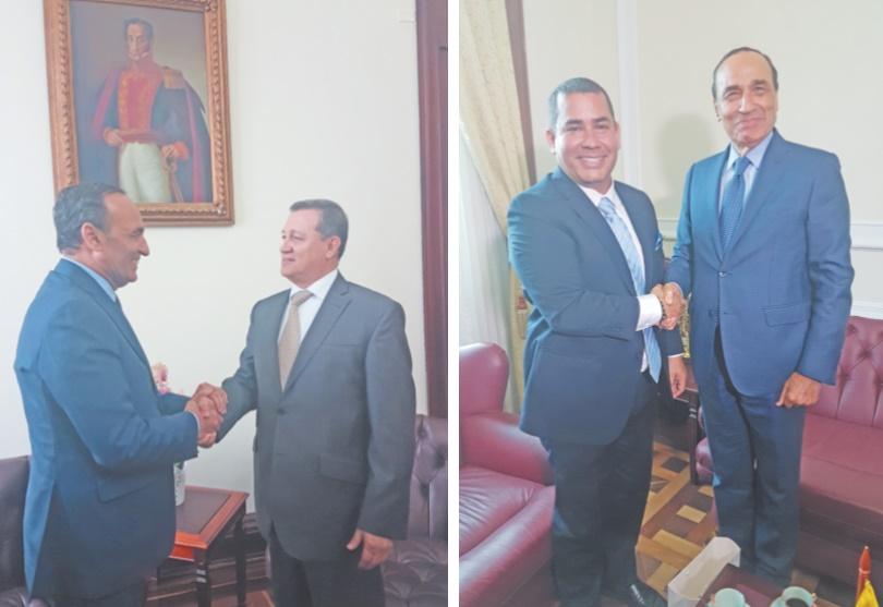 Habib El Malki s'entretient avec les présidents des deux Chambres du Parlement colombien