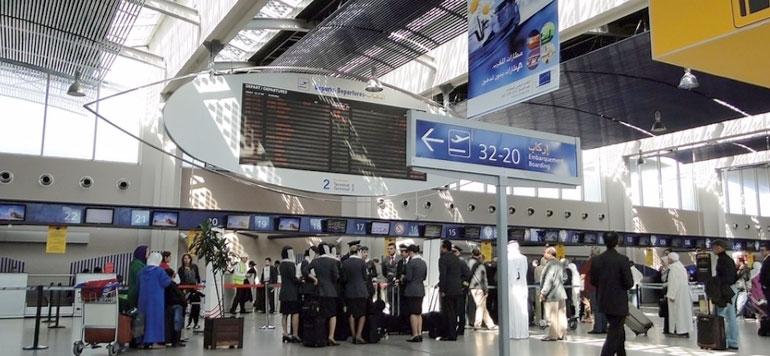 Accroissement du trafic passagers au niveau des aéroports du Maroc