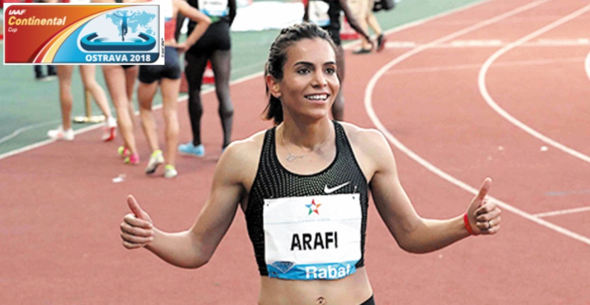 Rabab Arrafi s'illustre à la Coupe intercontinentale d'athlétisme