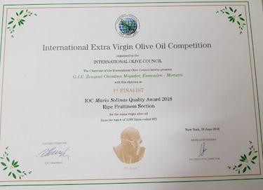 L'huiles d'olive des Chiadma primée à l'international