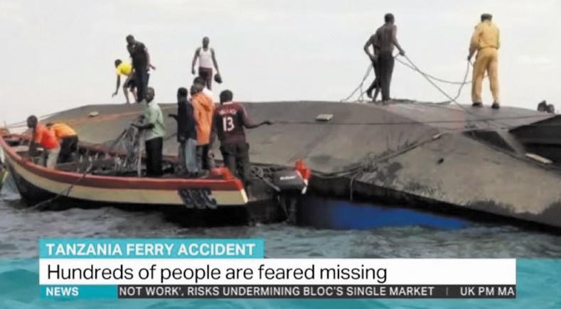 100 morts dans le naufrage d'un ferry sur le lac Victoria en  Tanzanie