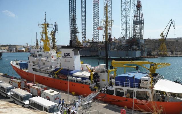 L'Aquarius cherche un port pour 11 migrants secourus au large de la Libye