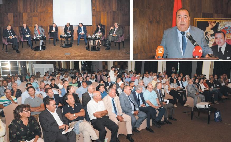 Driss Lachguar présidant la journée d'étude sur la régionalisation et la déconcentration