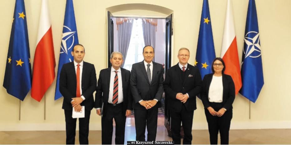 Habib El Malki s'entretient avec les présidents de la Diète et du Sénat polonais