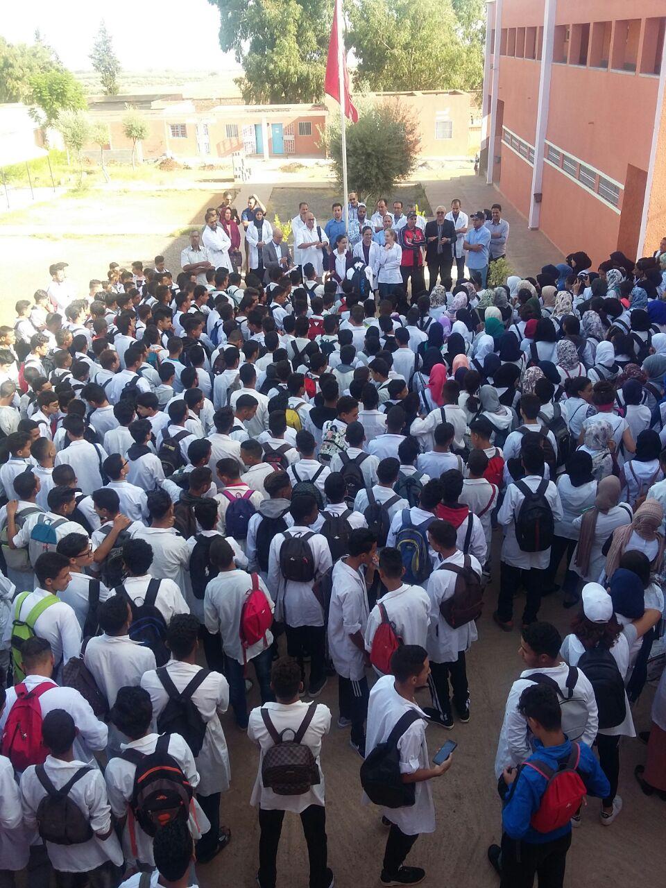 Les élèves du lycée Bir Anzarane  de Tahannaout fêtent leurs professeurs