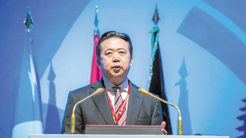 """L'ex-patron """"disparu"""" d'Interpol visé pour corruption, annonce Pékin"""