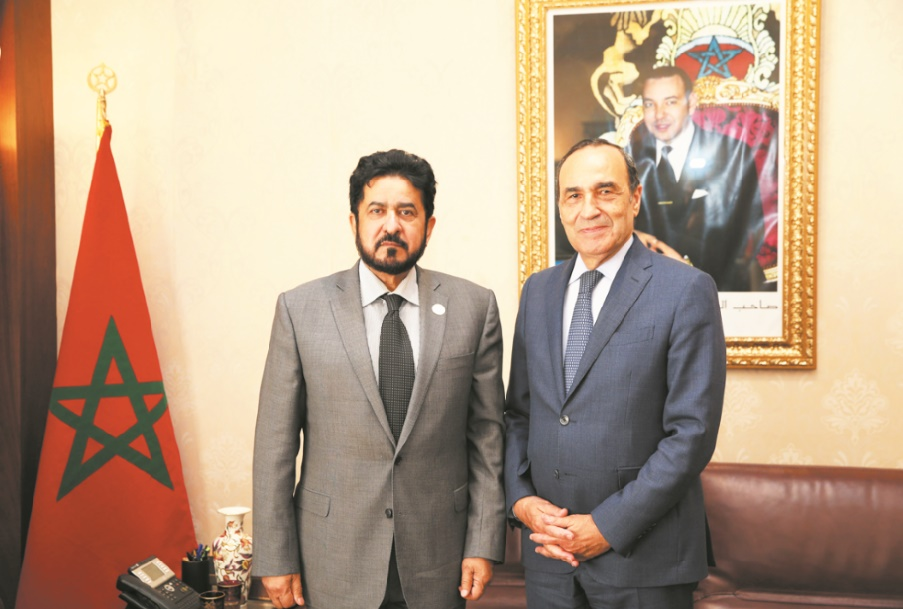 Entretiens maroco-émiratis à Rabat : Habib El Malki reçoit Ali bin Salim Al-Kaabi