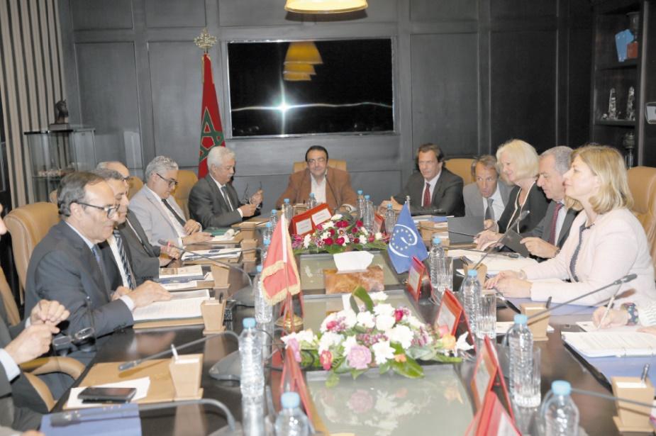 Habib El Malki s'entretient avec une délégation de rapporteurs des relations internationales auprès du conseil des ministres du Conseil de l'Europe