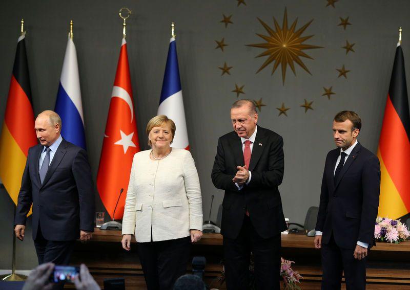 Macron, Merkel, Poutine et Erdogan veulent un cessez-le-feu en Syrie