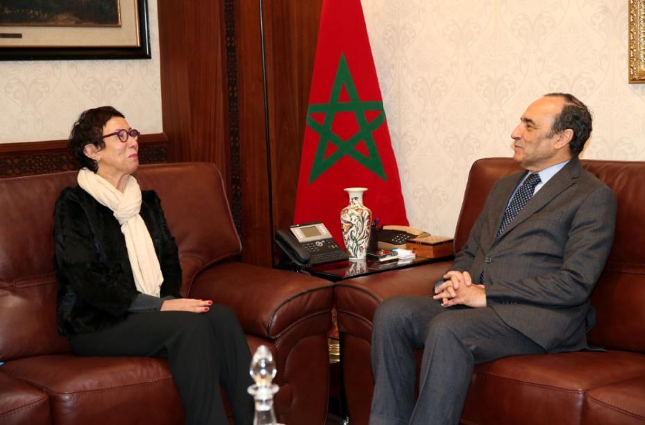 Habib El Malki reçoit la représentante du Bureau multi-pays de l'ONU Femmes pour le Maghreb