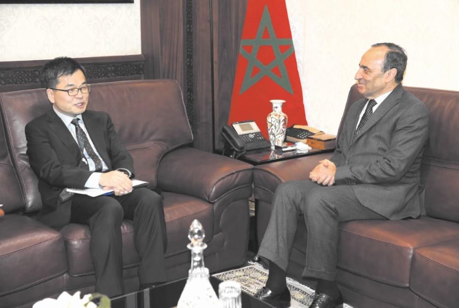 Le président de la Chambre des représentants s'entretient avec l'ambassadeur de la Corée du Sud