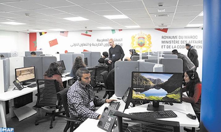 Un centre d'appel dédié aux MRE