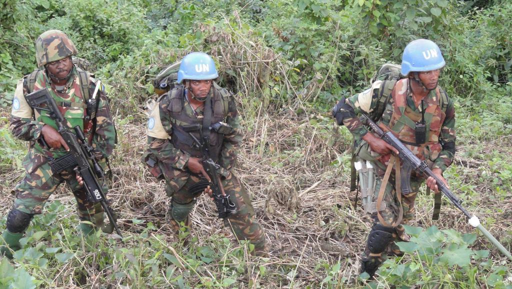 Affrontements entre Casques bleus et rebelles en  RDC