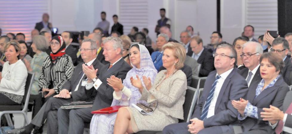 La Princesse Astrid et Rkia Derham au Forum belgo-marocain.