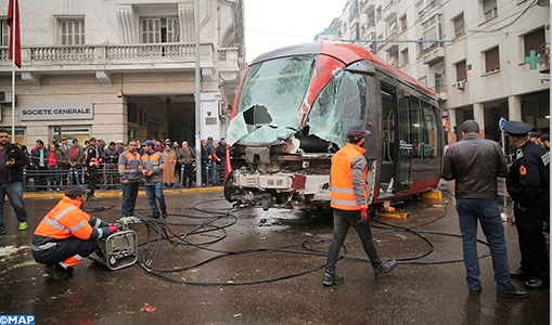Un camion percute le tramway à Casablanca