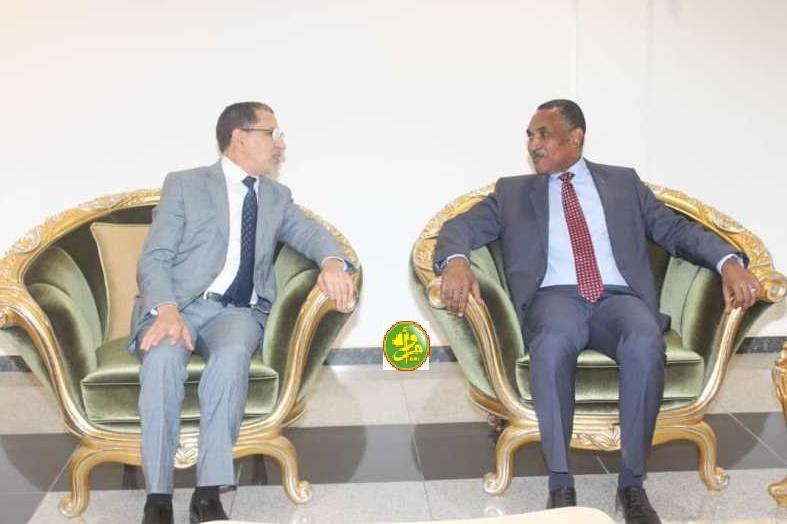 Saad Dine El Otmani et le Premier ministre mauritanien  Mohmed Salem Ould El Bechir.