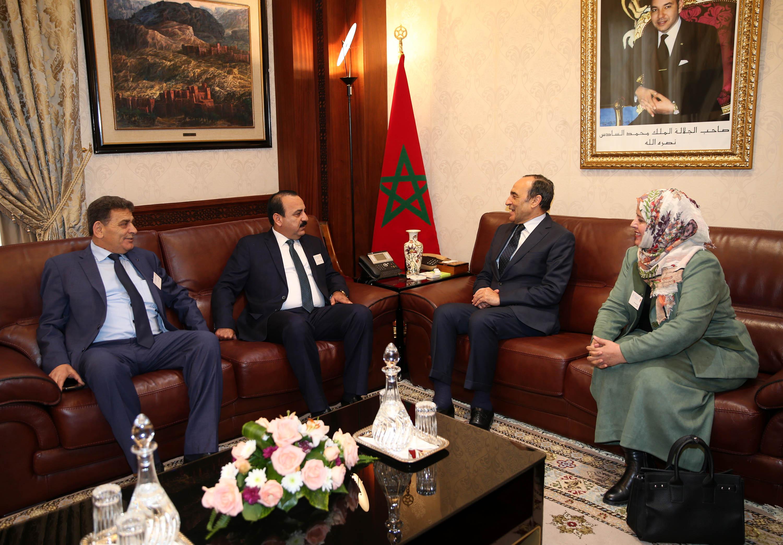 Habib El Malki reçoit de nombreuses délégations  parlementaires ayant participé à la Conférence sur la migration