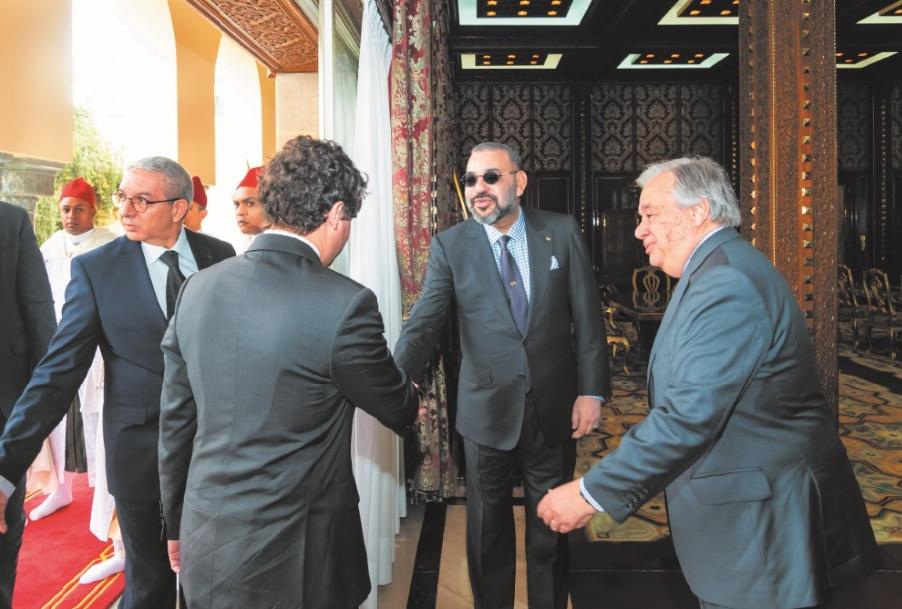 S.M le Roi réitère le soutien du Maroc aux efforts d'Antonio Guterres et de son Envoyé personnel au Sahara