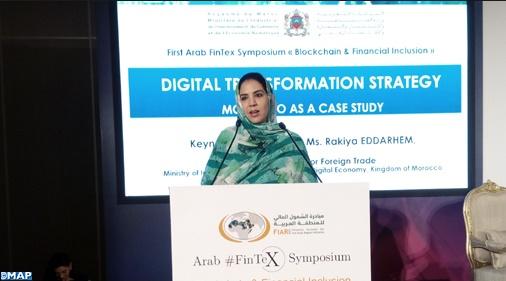 Rkia Derham met en exergue l'expérience marocaine dans les domaines de l'économie numérique et de l'inclusion financière