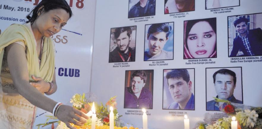 Quatre-vingts journalistes tués en 2018 dans le monde