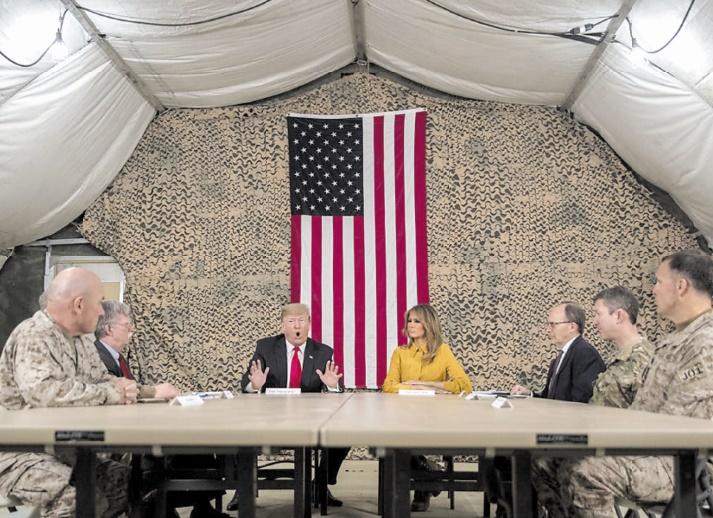 Visite surprise de Donald Trump en Irak
