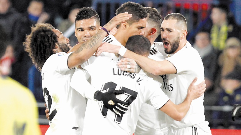 Le Real Madrid se rapproche du podium