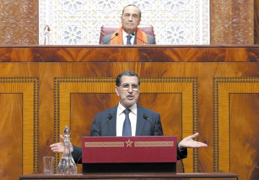 Saâd Dine El Otmani lors de la séance mensuelle consacrée à la politique générale à la Chambre des représentants