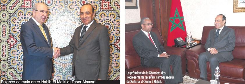 Habib El Malki s'entretient avec le président de la Commission internationale et arabe de reconstruction en Palestine et avec l'ambassadeur du Sultanat d'Oman à Rabat