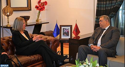 Mogherini s'entretient avec Benchaaboun et Laftit