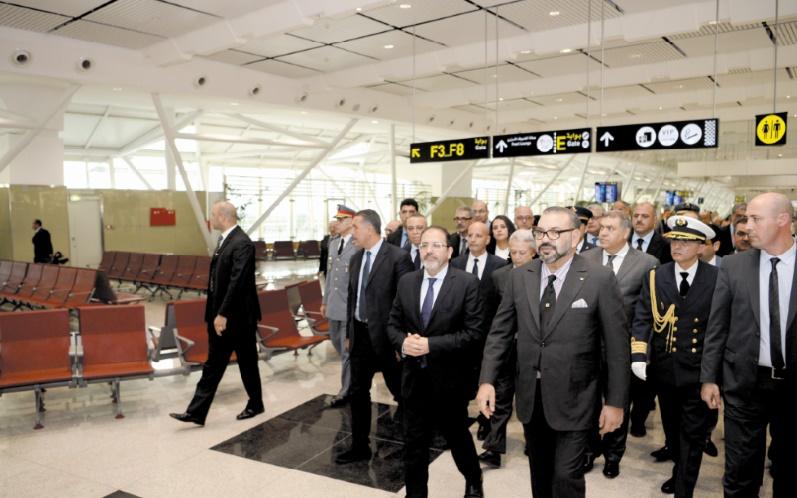 S.M le Roi inaugure le nouveau Terminal 1 de l'aéroport Mohammed V de Casablanca