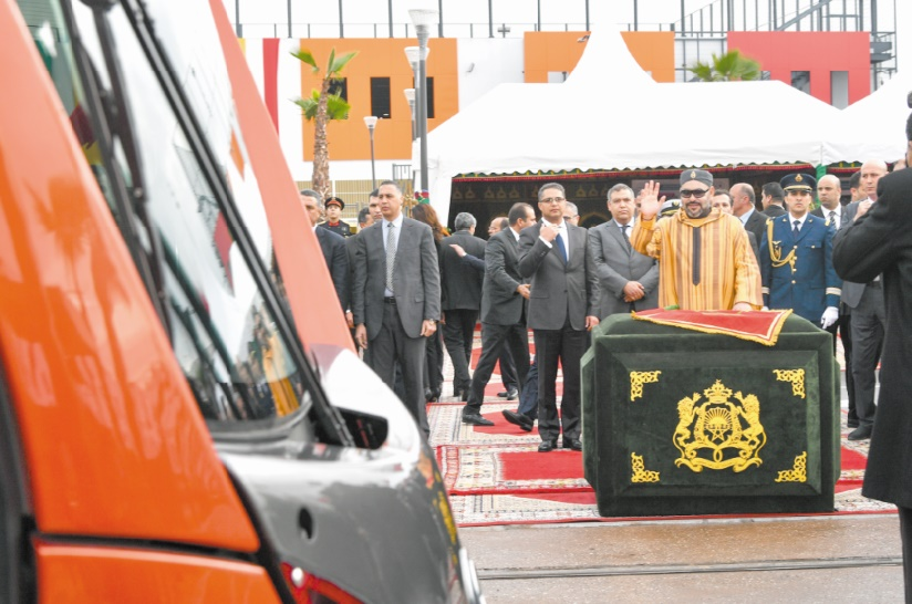 S.M le Roi lance la mise en service de la deuxième ligne du tramway de Casablanca