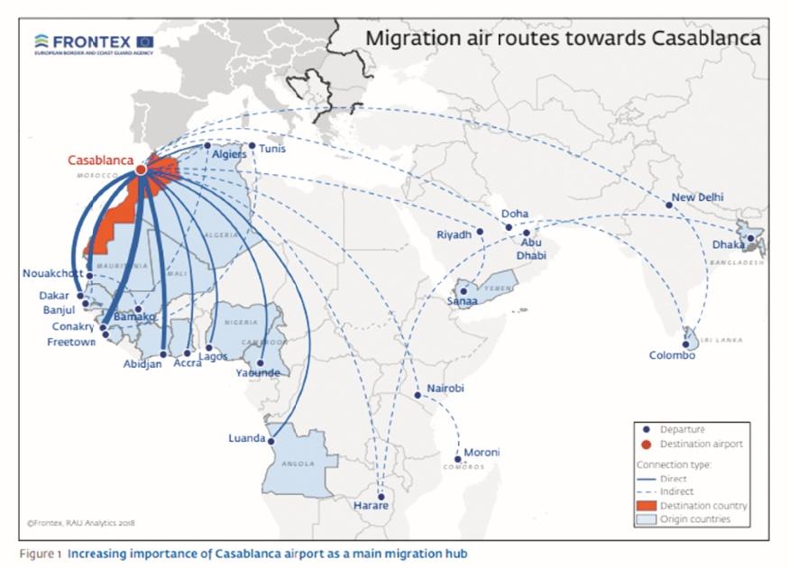 Frontex place les Marocains au Top ten des passeurs