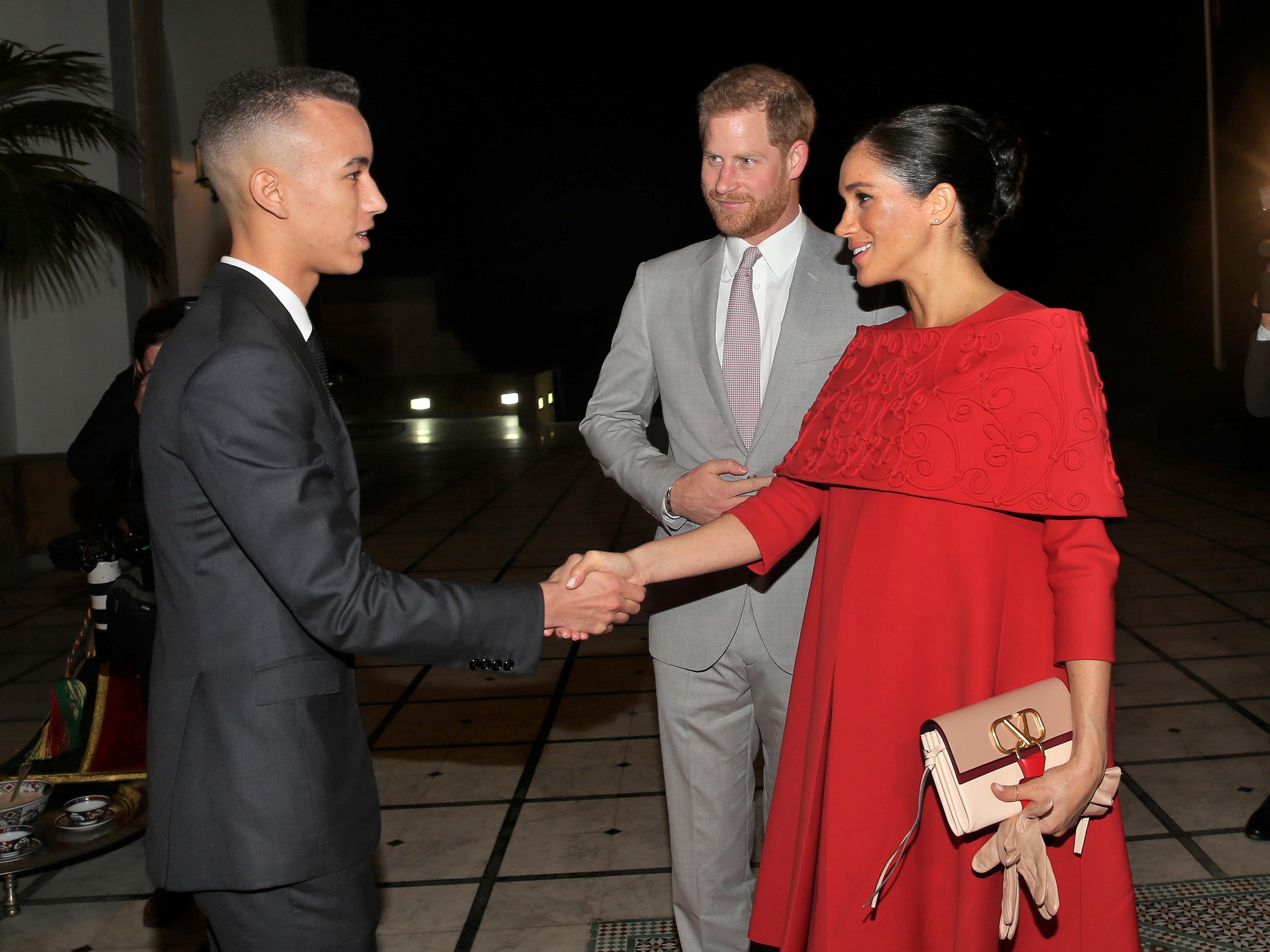 S.A.R le Prince Héritier Moulay El Hassan reçoit le Prince Harry d'Angleterre et son épouse