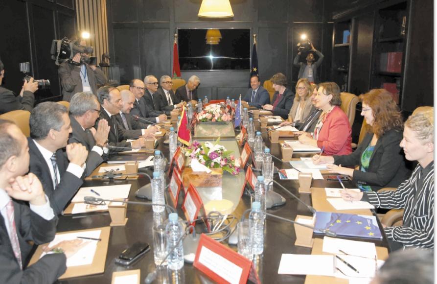 Habib El Malki reçoit la coprésidente de la Commission parlementaire mixte UE-Maroc