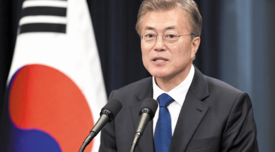 Moon Jae-in demande une reprise rapide des discussions entre Washington et Pyongyang